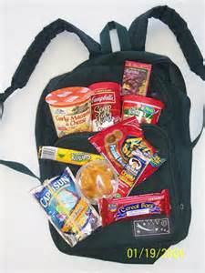 backpack of food